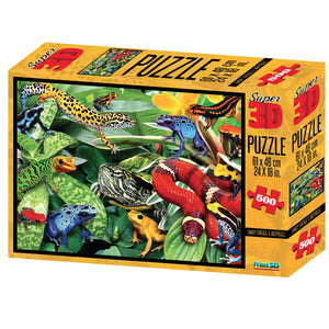 Dart Frogs and Reptiles 3D Puzzle