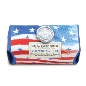 Red, White, & Blue Large Bath Soap
