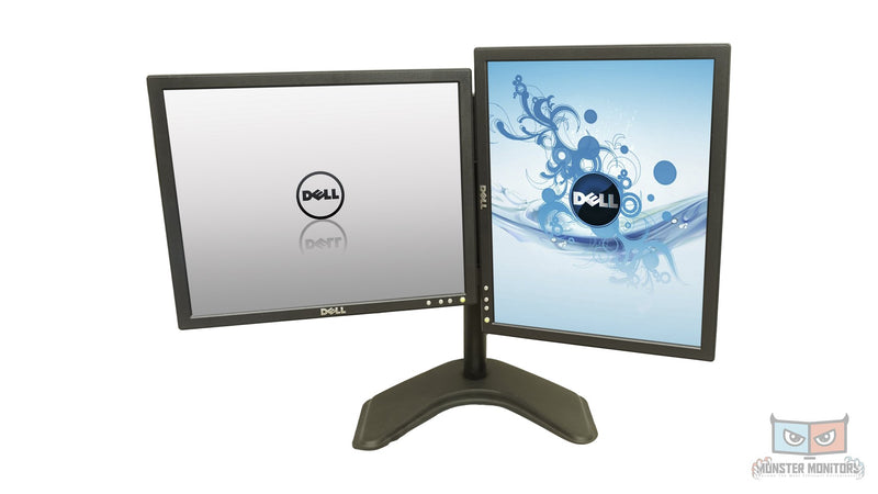 Matching Dual 17 Inch Dell P170Sb w/Heavy Duty Stand