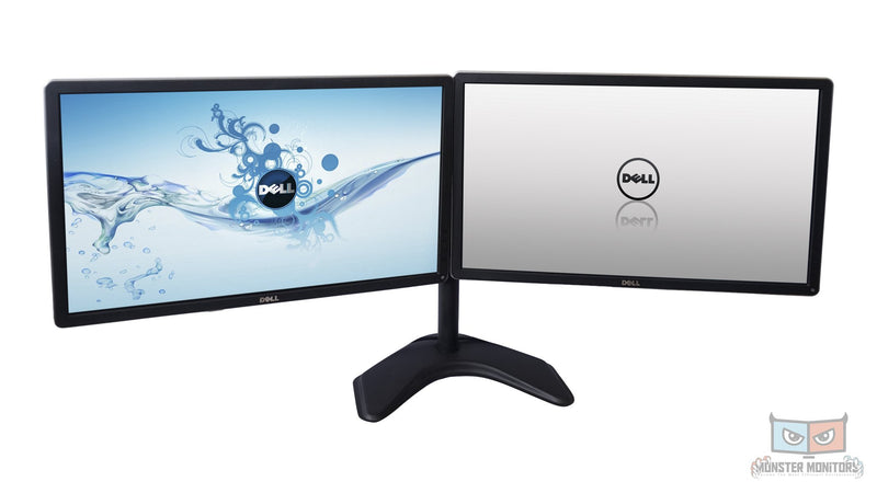 B - Dell 24 Inch P2414H Dual Monitor w/ Heavy Stand IPS LED 1080P PC VGA DVI Scratch Less 1 inch DVI DP VGA Monster Monitors