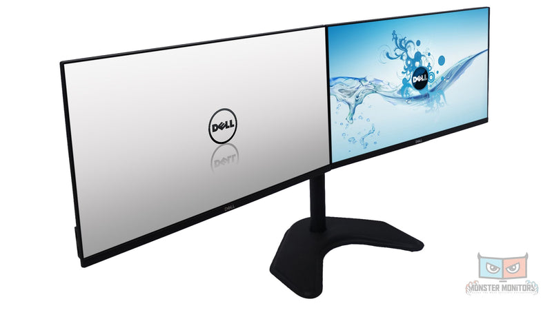 DELL P2419h 24 Inch LED IPS Ultrathin Professional Matching Dual Monitors w/ Desk Duty HDMI DP VGA Like New MonsterMonitors