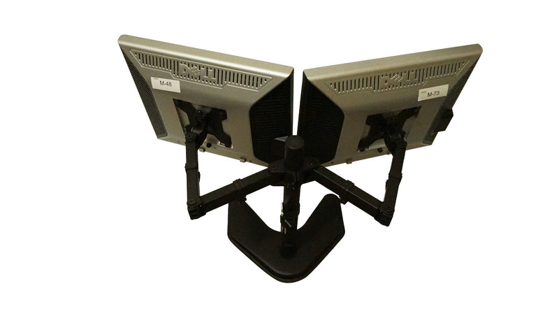 "Dell 19"" P1907FP Matching Dual Monitors w/ Heavy Duty Stand 5:4 VGA DVI"
