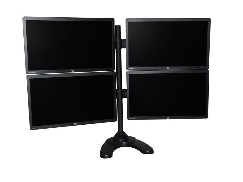 Matching 23 Inch HP E232 LED IPS Analytic Quad Monitors w/ Heavy Duty Stand Like New MonsterMonitors