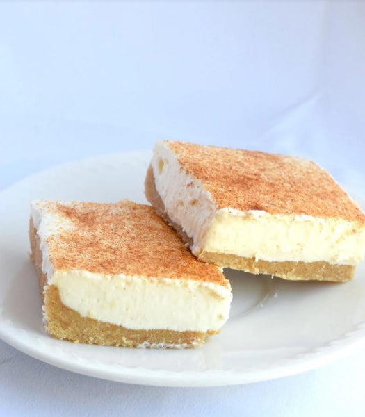 KETO CHEESECAKE CINNAMON BARS