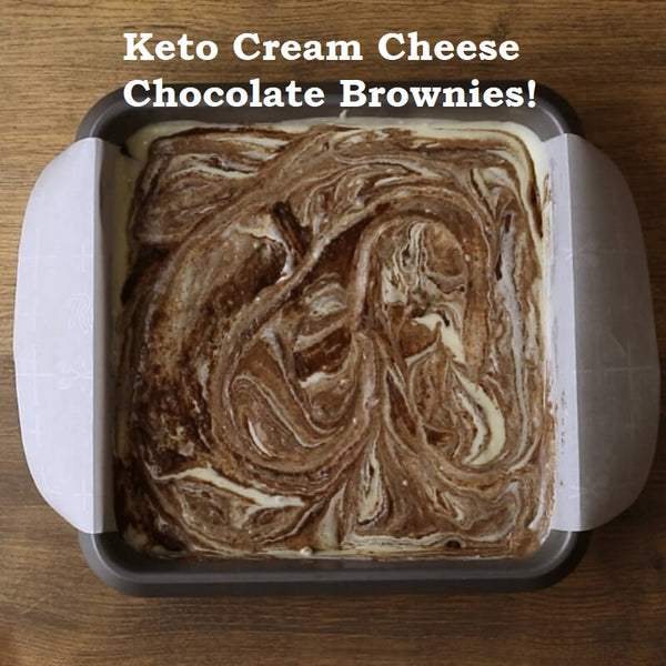 Keto Cream Cheese Chocolate Brownies