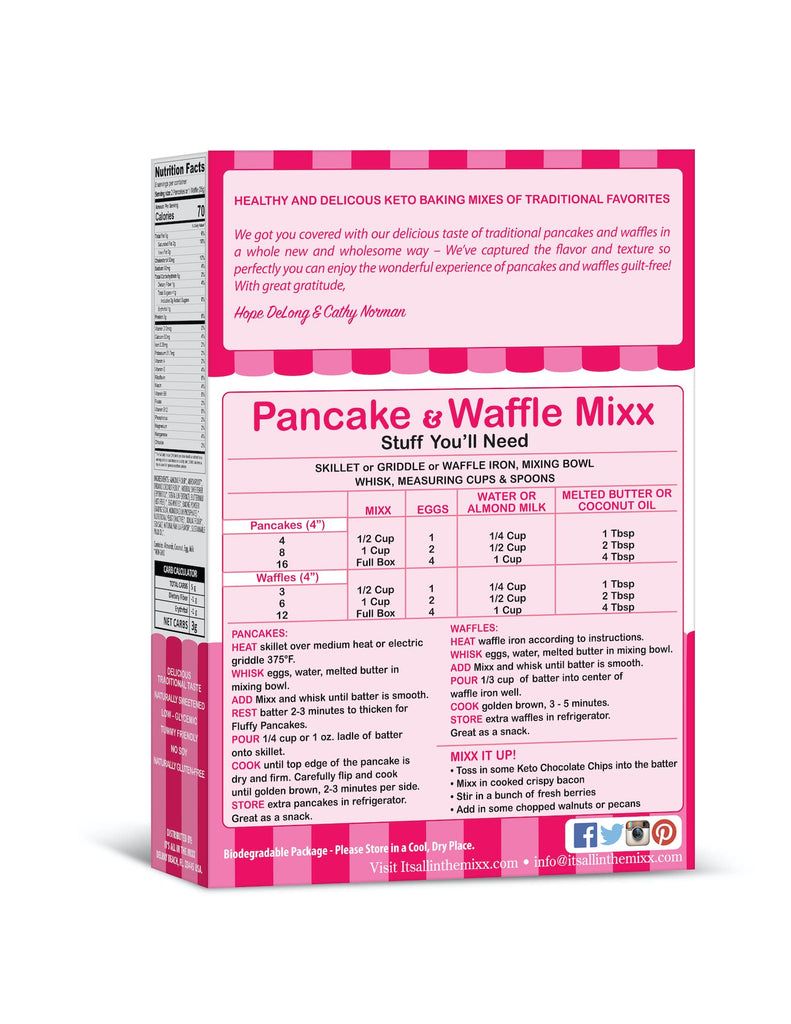 Low carb pancake and waffle mix