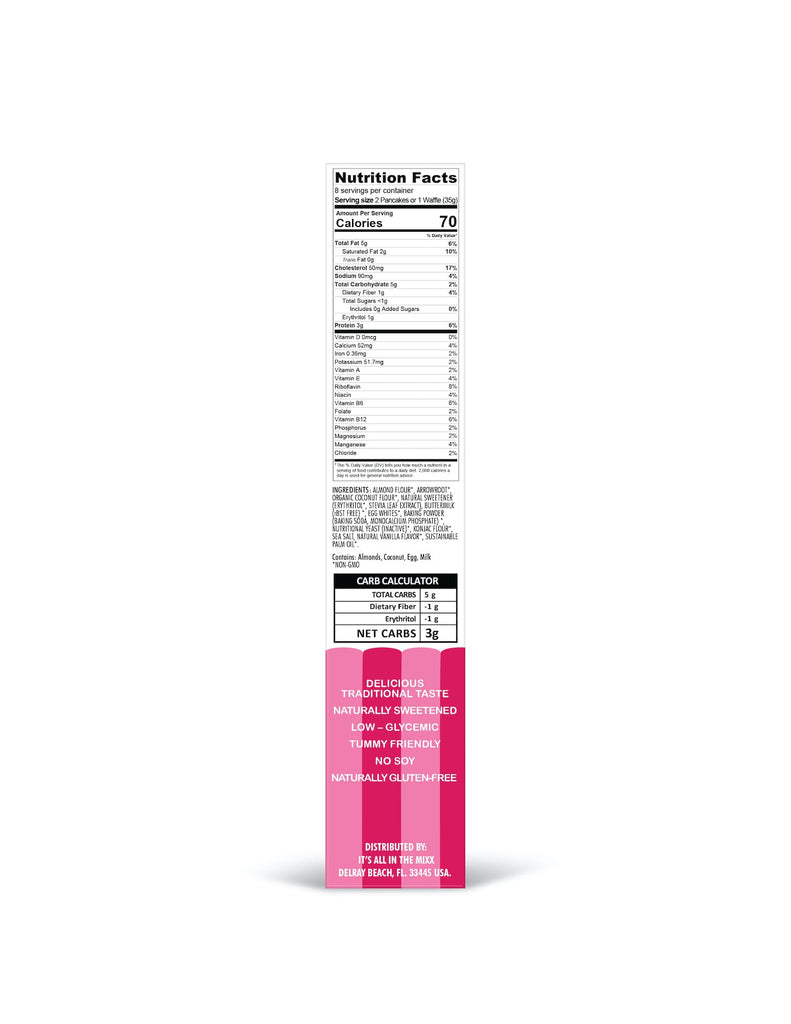 pancake waffle mix nutrition facts