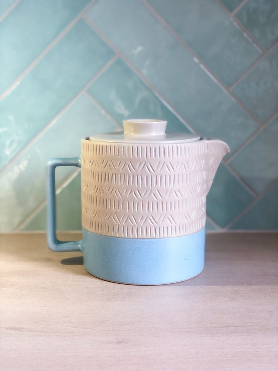 Tea Pot - Linen & Blue