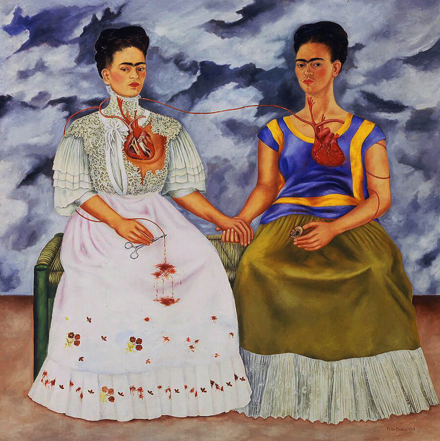Famous Frida Kahlo Paintings, Two Fridas