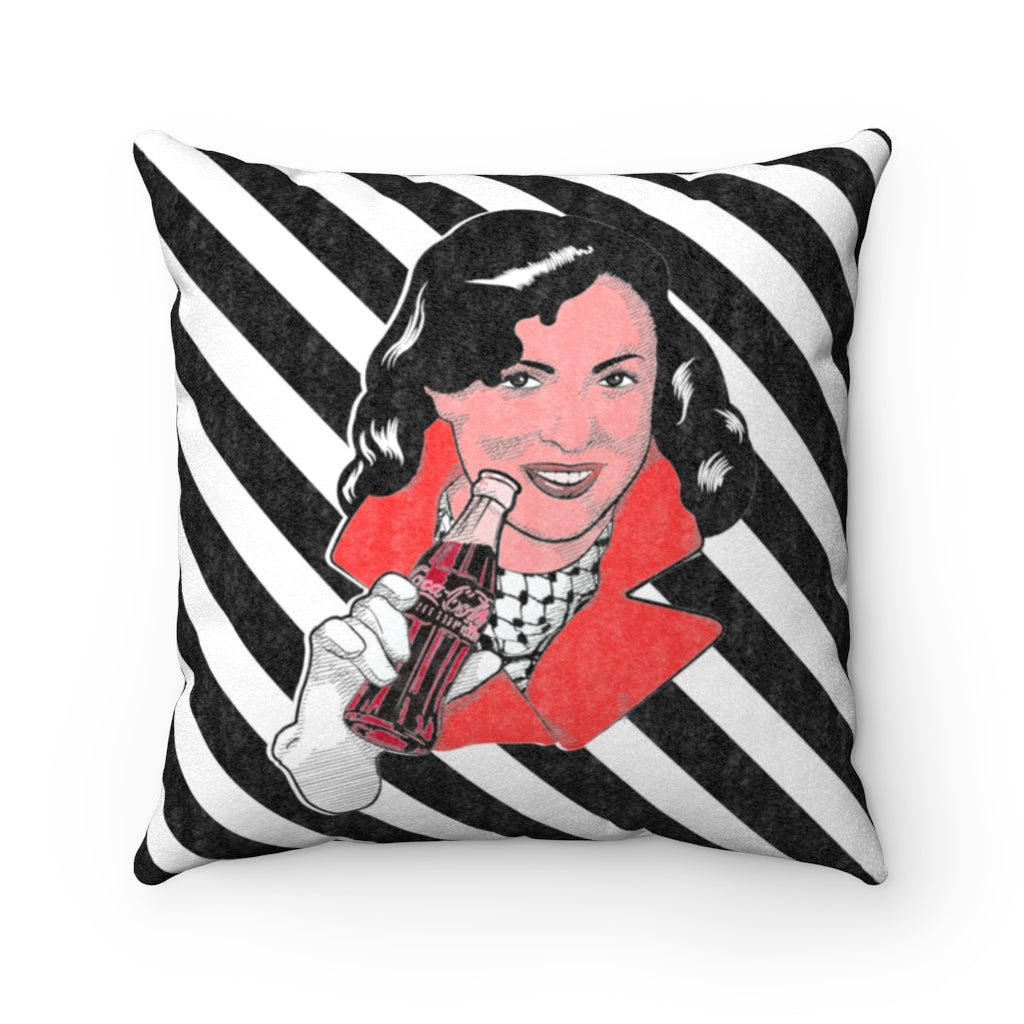 Coca Cola Pillow Case - Keffiyeh Girl -The Famous Faces