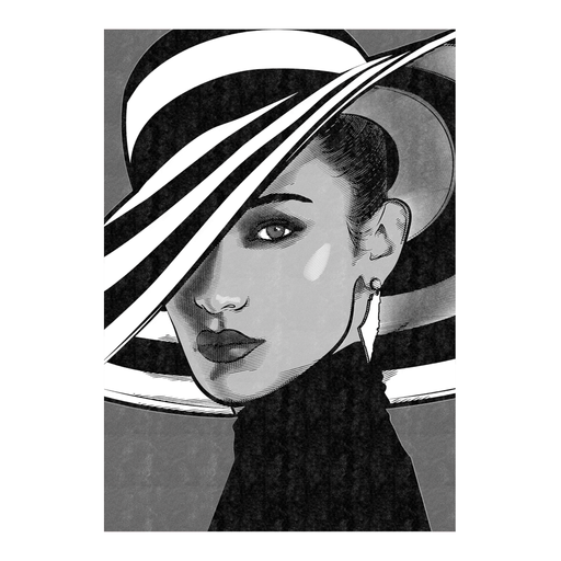 Shop Bella Hadid Art Print Black & White | The Famous Faces