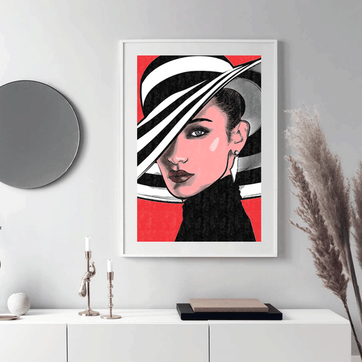 Shop Bella Hadid Framed Poster | The Famous Faces