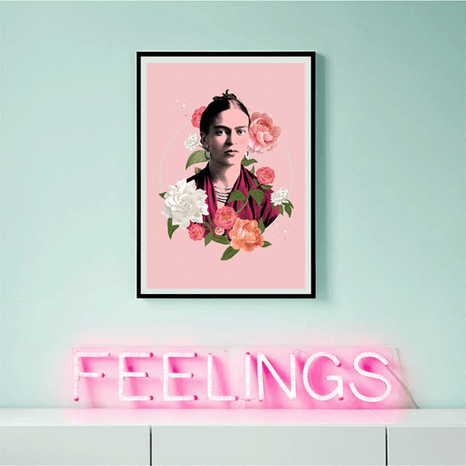 Shop Frida Flowers Framed Art Print | The Famous Faces