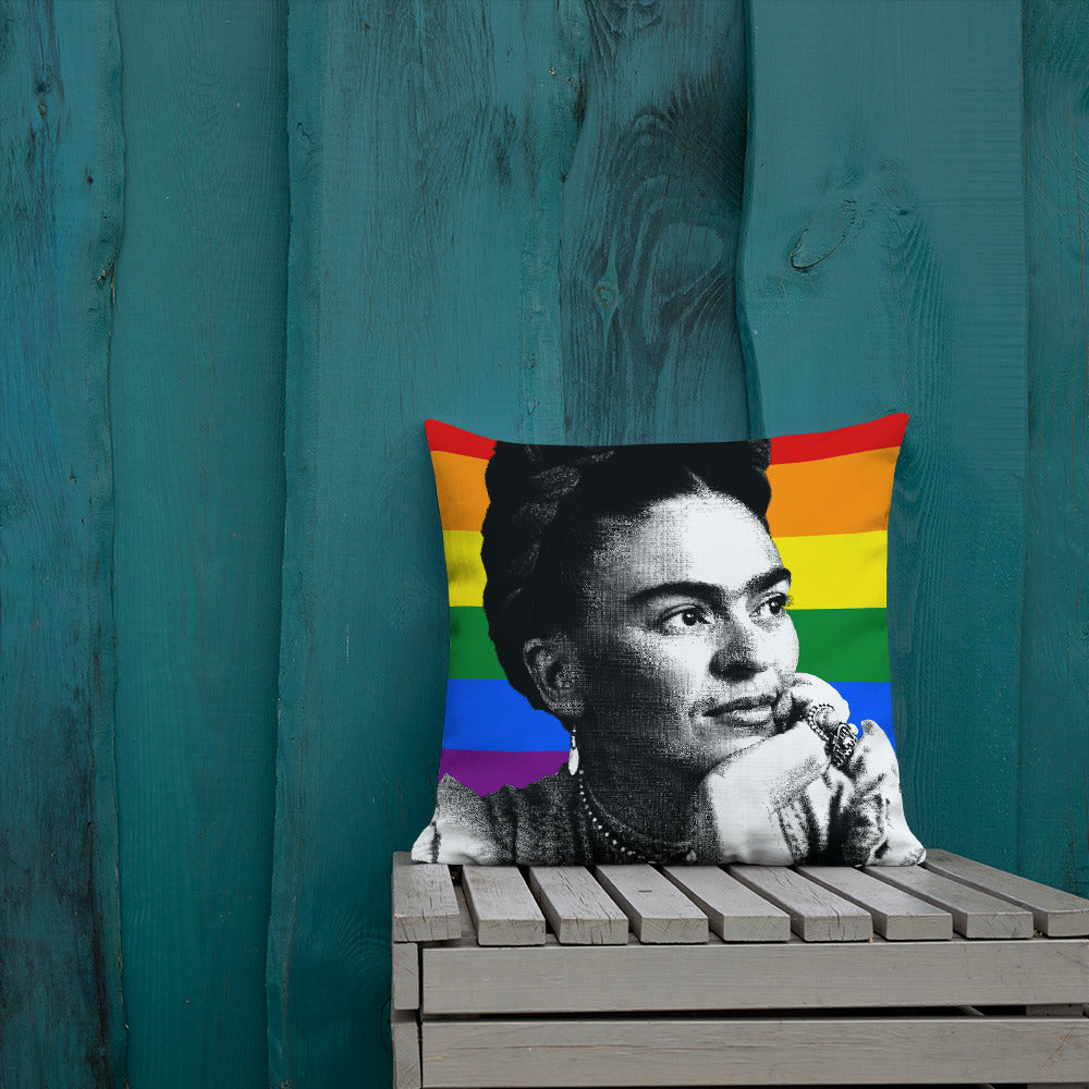 Frida LGBT Pillow Case | Feminist Throw Pillows | The Famous Faces