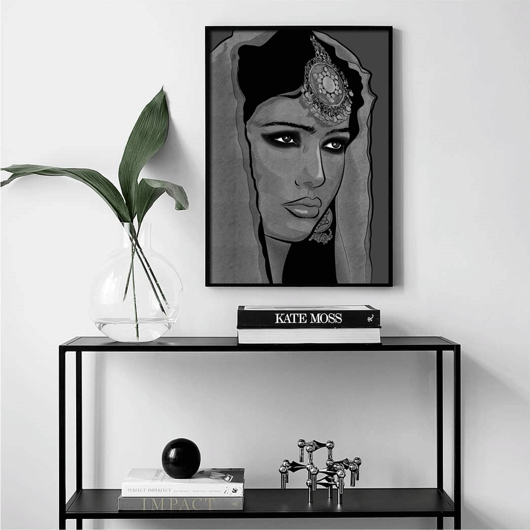 Just a Girl Black & White Framed Art Print | The Famous Faces
