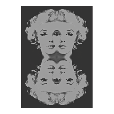 Marilyn Monroe Face Black & White Poster | Vignettly