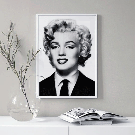 Marilyn Monroe Framed Poster Black and White | Vignettly