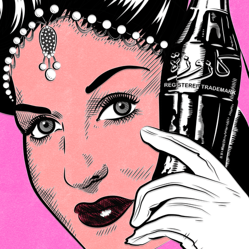 Closeup Vintage 50s Posters | Vintage Ads & Art Prints Closeup | The Famous Faces