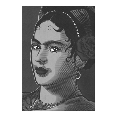 Frida Black & White Art Print | Vignettly