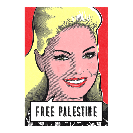 Free Palestine - Nadia Lutfi Poster | The Famous Faces