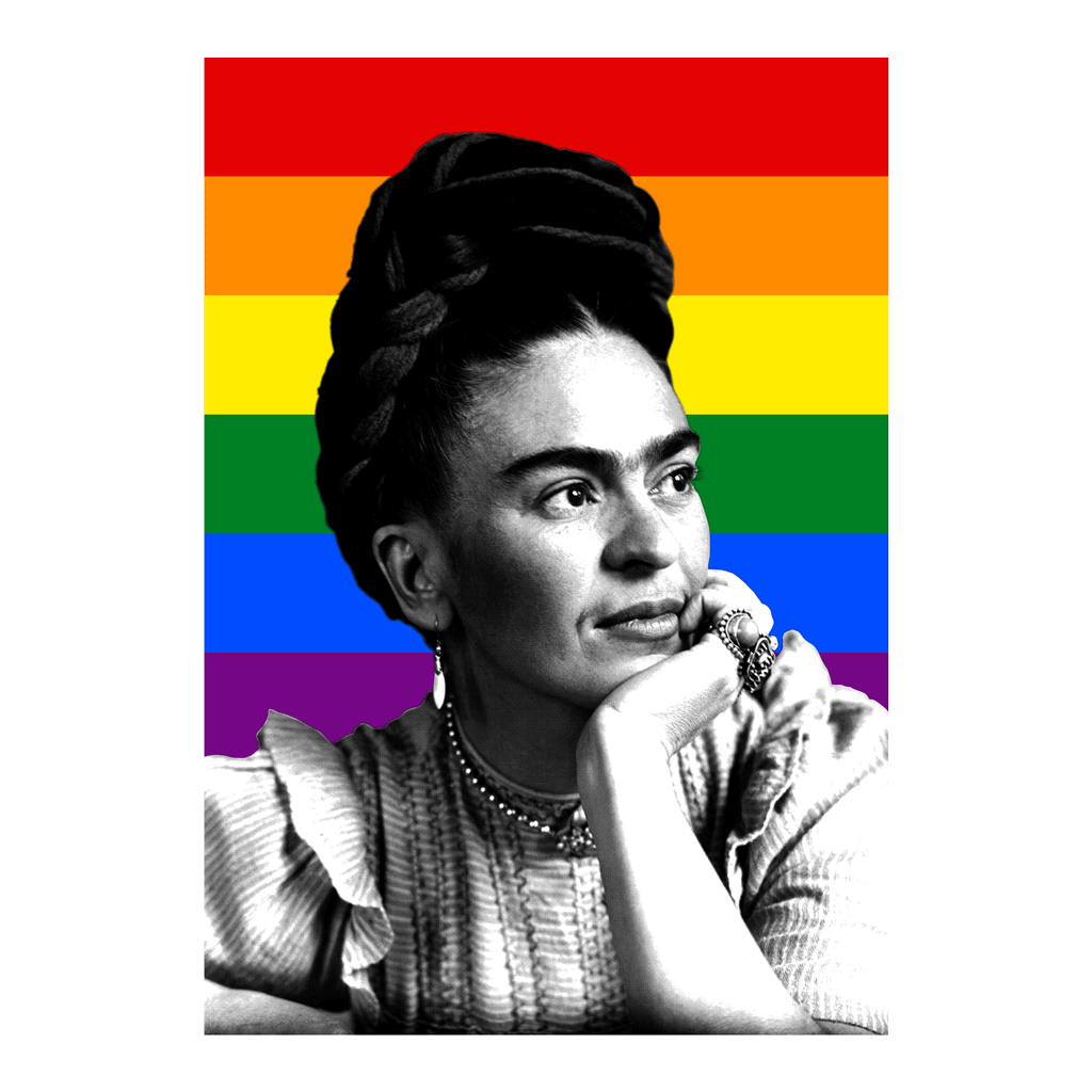 Shop Frida LGBT Poster | The Famous Faces