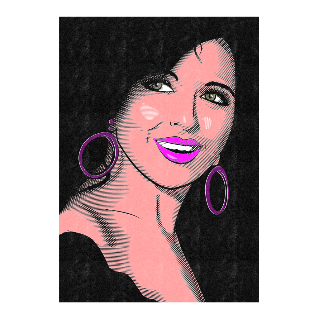 Soad Hosny Face Poster | That Smile Art Print | The Famous Faces