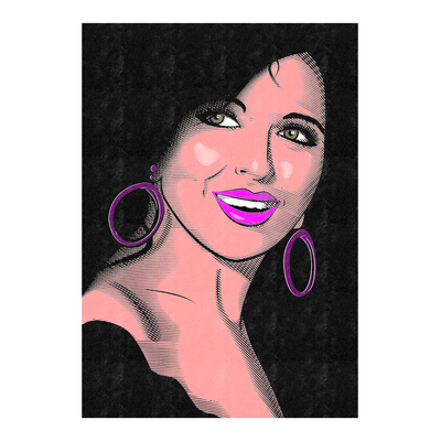 Soad Hosny Face Poster | That Smile Art Print | Vignettly
