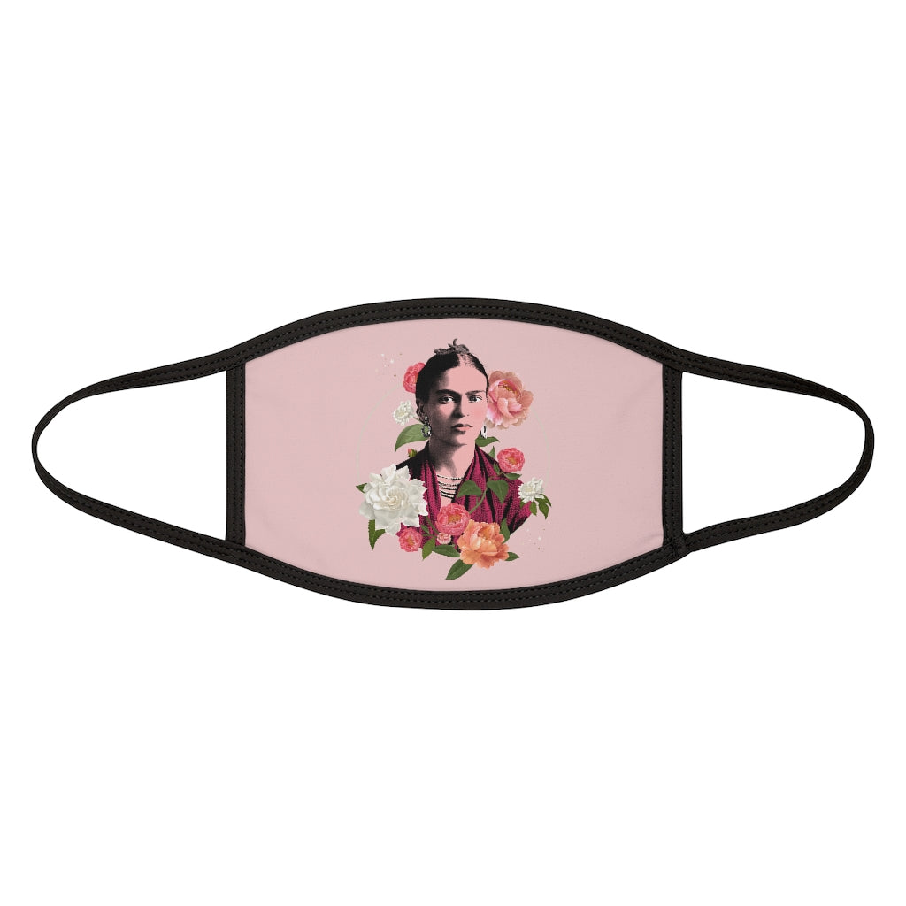 Frida Flowers Face Mask - Pink | The Famous Faces