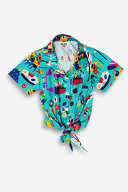 Pasar Malam Kids Tie Front Shirt - LuckyCla