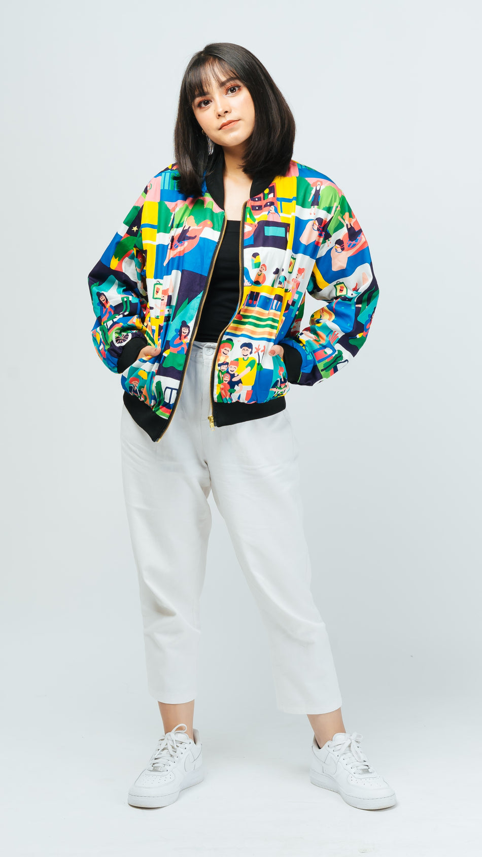 Happy Family Bomber Jacket - LuckyCla