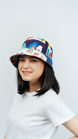 Bucket Hat Reversible Happy Family Mix Neon Flow Water Repellent - Lucky Cla