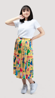 Yellow Dolanan Pleated Skirt - LuckyCla
