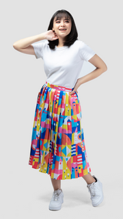 Hometown Pleated Skirt - Lucky Cla