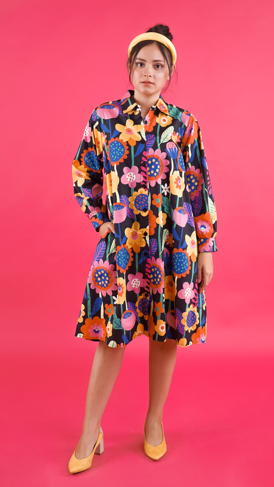 Flow Collar Dress - Lucky Cla