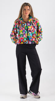 Happy Faces Crop Jacket - LuckyCla