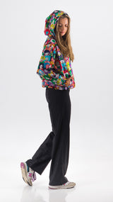 Happy Faces Crop Jacket - Lucky Cla