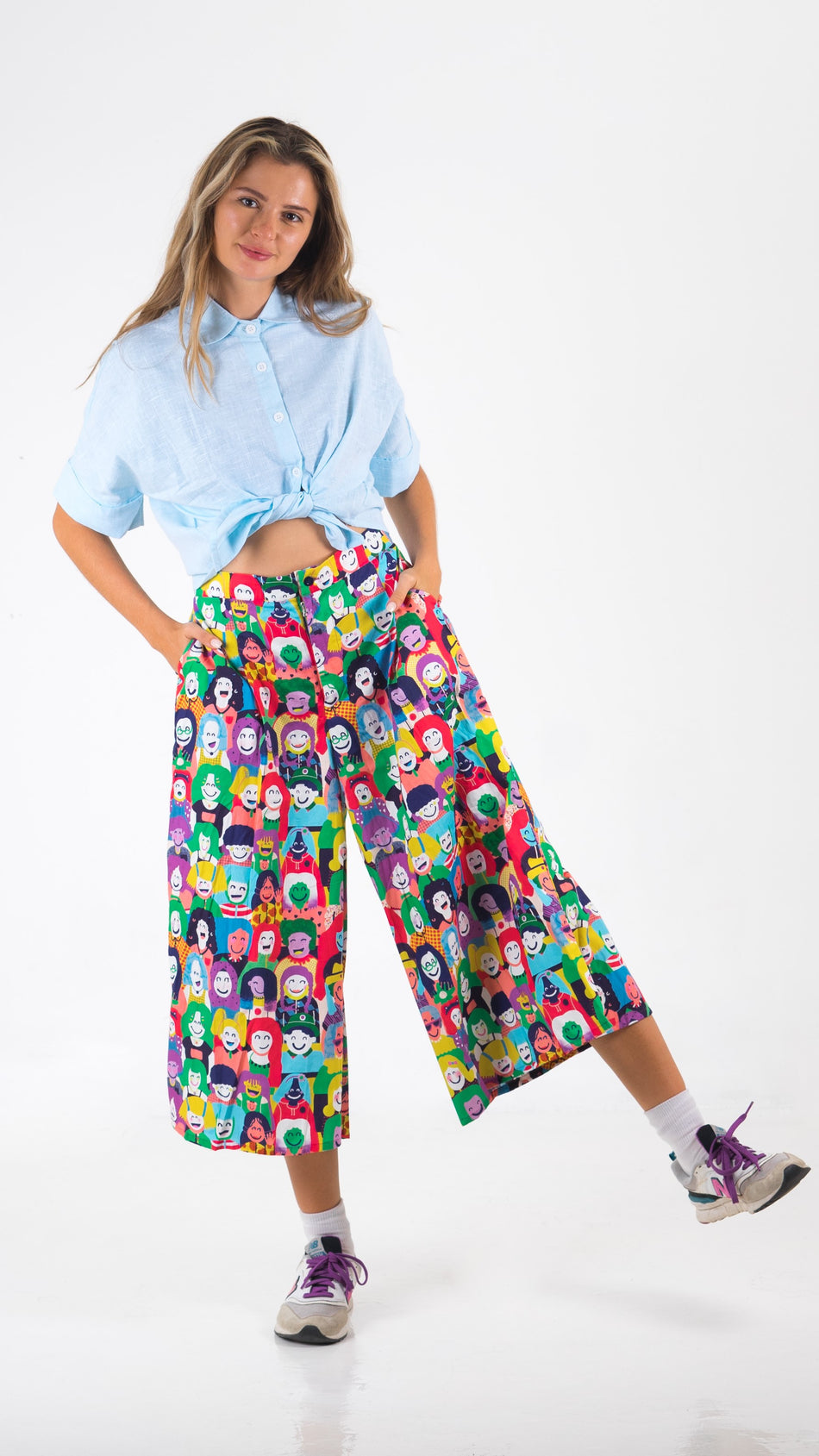 Happy Faces Culottes - LuckyCla