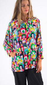 Happy Faces Long Slevee Shirt - LuckyCla