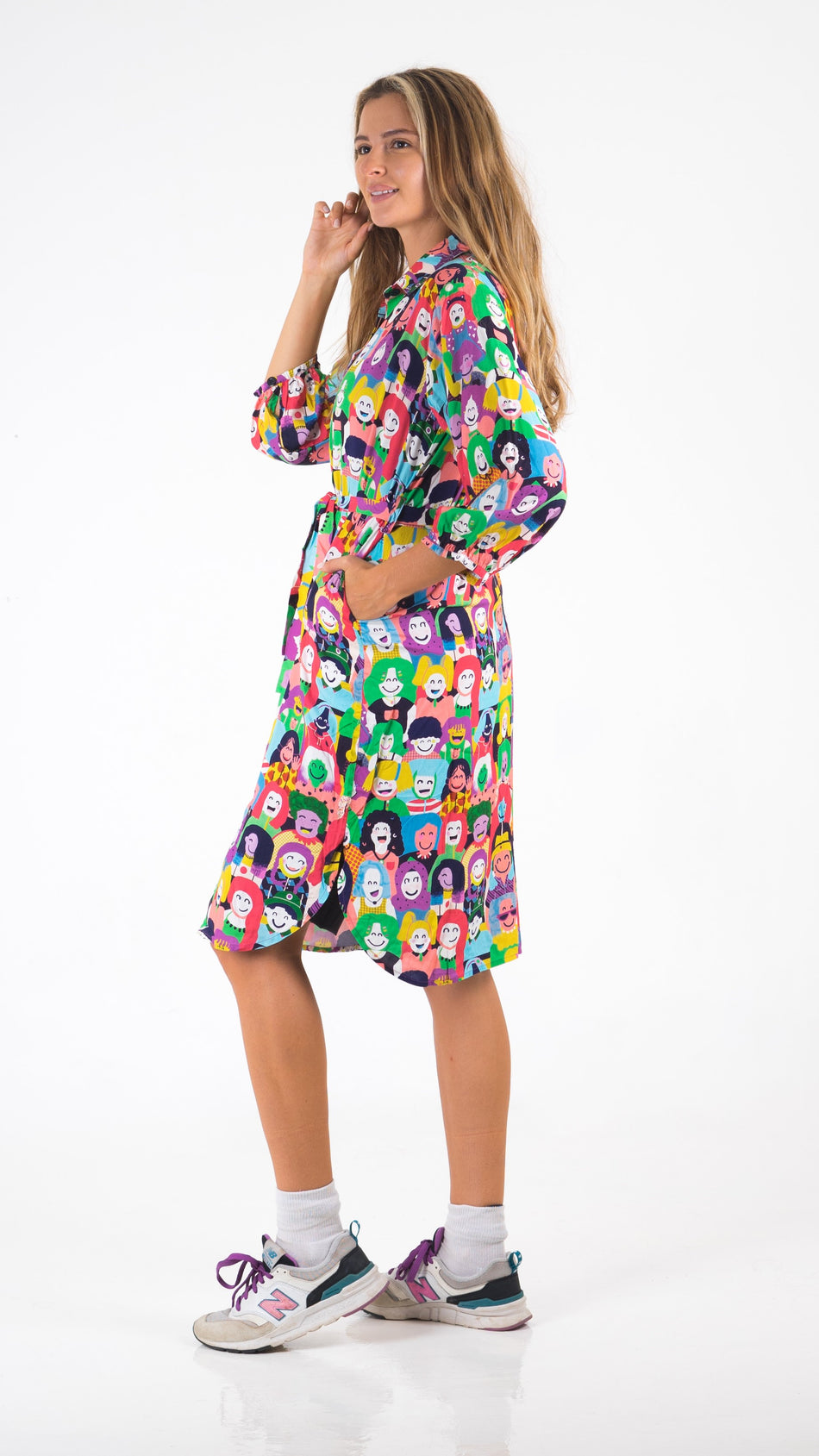 Happy Faces Shirt Dress - Lucky Cla