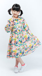 Ular Tangga Kids Dress - Lucky Cla