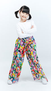 Happy Face Kids Layered Culottes - Lucky Cla