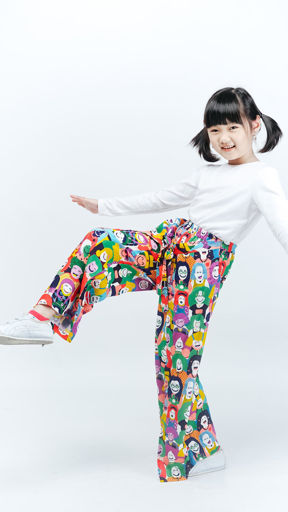 Happy Face Kids Layered Culottes - LuckyCla