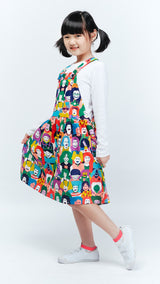 Happy Face Overall Skirt - Lucky Cla