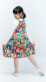 Happy Face Overall Skirt - LuckyCla