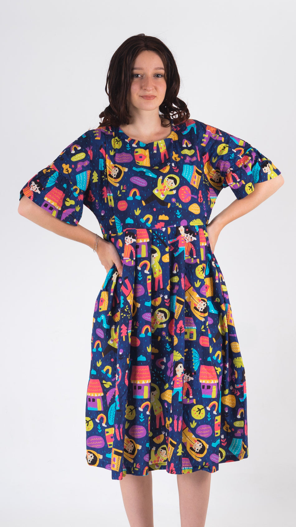 Rain Loose Dress - Lucky Cla