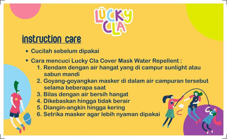 Water Repellent Cover Mask Kids Dolanan Pattern - LuckyCla
