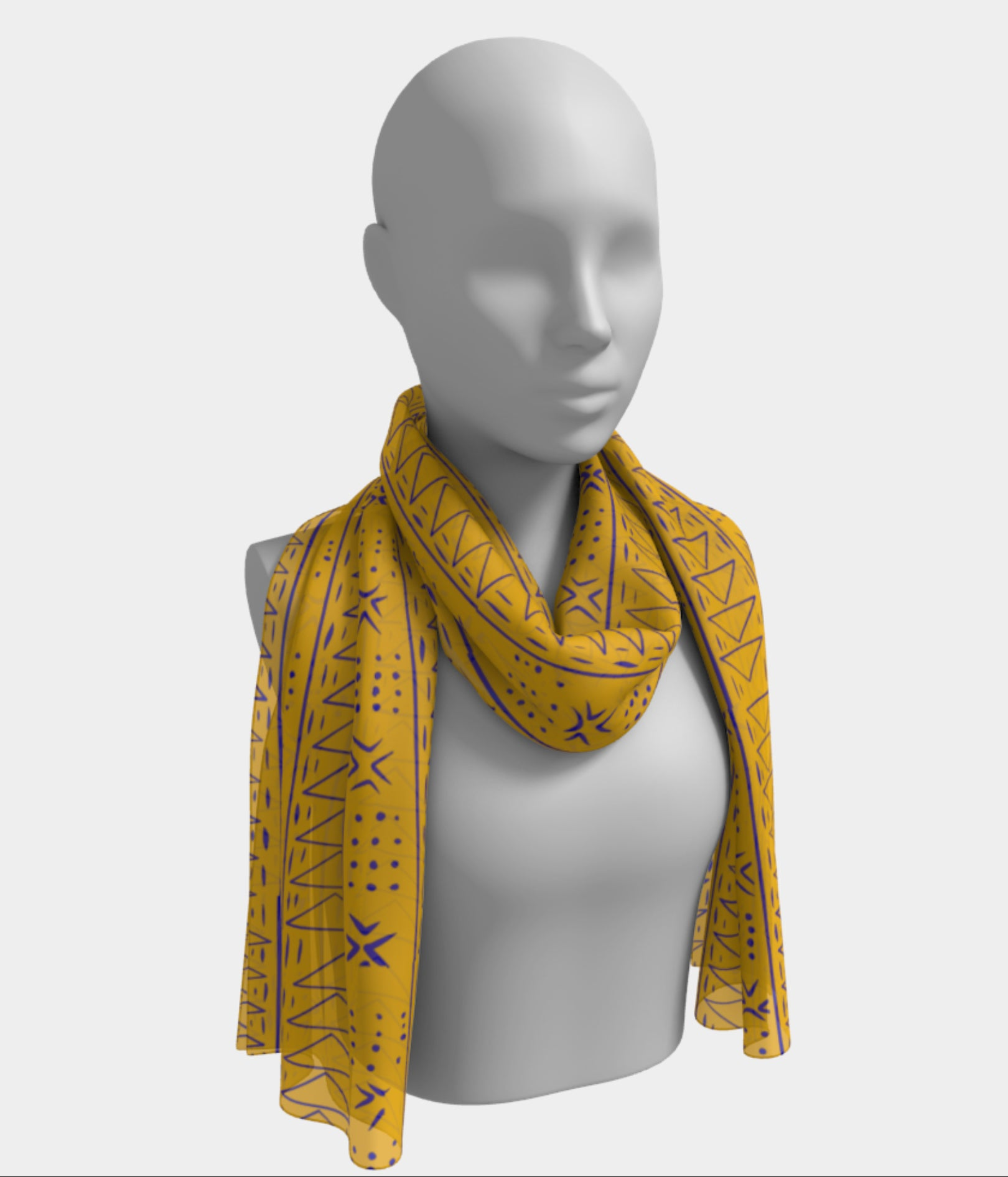 Gold inspired Aggie scarf