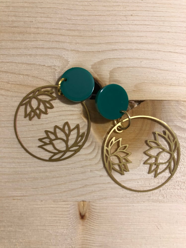 Green and lotus flower love