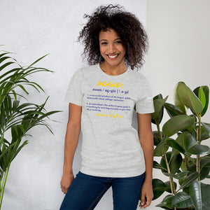 Light colored Aggie noun Short-Sleeve Unisex T-Shirt