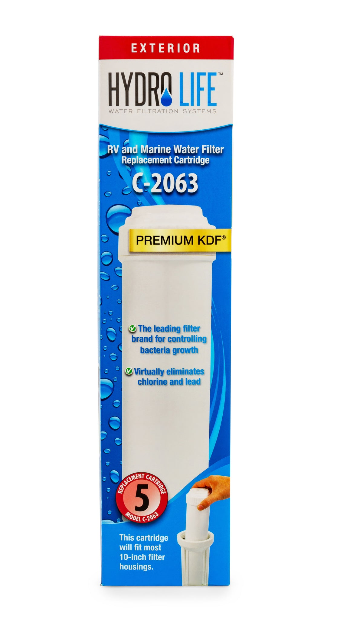 Hydro Life Commercial 2063 - Replacement Cartridge (12 per case)
